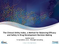 The Clinical Utility Index, a Method for Balancing Efficacy and Safety ...