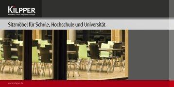 Sitzmöbel für Schule, Hochschule und Universität