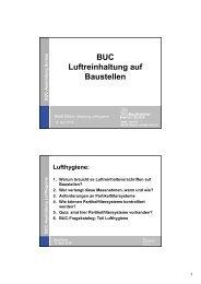 BUC Luftreinhaltung auf Baustellen