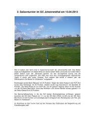 Bericht 2. Saisonturnier GC Johannesthal, 13.04 ... - SG Stern Rastatt