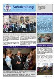 Schulzeitung - Ausgabe 4/2009 - Saxony International School
