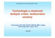 Technologie CVD, PVD, PECVD - Vysoká škola chemicko ...