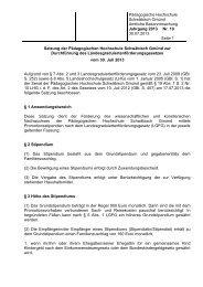 LGFG-Satzung neu - Pädagogische Hochschule - Schwäbisch Gmünd