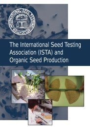 And Organic - International Seed Testing Association