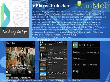 VPlayer Unlocker - RunMob
