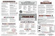 Lunch/Dinner Menu - Black Angus Steakhouse