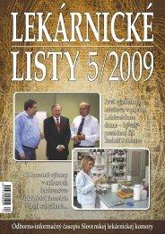 8. JÚN 2009 - Slovenská lekárnická komora