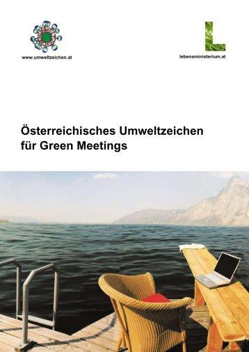 Österreichisches Umweltzeichen für Green Meetings - Das ...