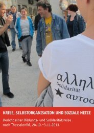 Krise, Selbstorganisation und soziale Netze