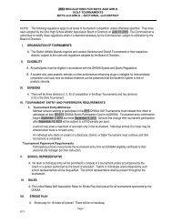 2012 Tournament Regulations - Ohio High School Athletic Association