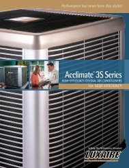 Luxaire Acclimate 3S Series 13+ SEER Air Conditioners from ...
