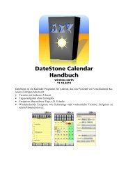 DateStone Calendar Handbuch - wireless-earth