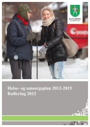 Helse- og omsorgsplan 2012-2015 Rullering 2012 - Kongsberg ...