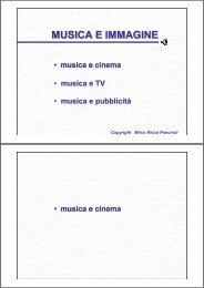 Musica e Immagine: Cinema, TV, Pubblicità