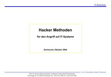 Hacker Methoden - Prof. Dr. Heinz-Michael Winkels