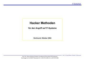 Hacker Methoden - Prof. Dr. Heinz-Michael Winkels
