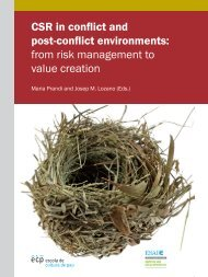 CSR in conflict and post-conflict environments: from risk ... - Esade