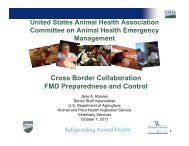 Cross Border Collaboration Issues & PNWER - United States Animal ...