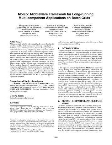 Morco: middleware framework for long-running multi-component ...