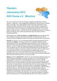 zum Reisebericht - KKV Hansa München