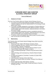 Alcohol Strategy Group Terms of Reference - West Cheshire Together