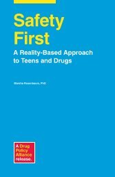 Safety First A Reality-Based Approach To Teens - Drug Policy Alliance