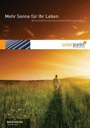 Flyer Solarwärme - Solarpunkt AG