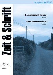 Heft 6/2006 - Zeit & Schrift