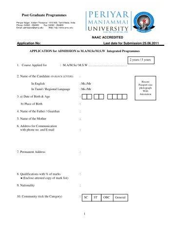 Post Graduate Programmes - Pmu.edu