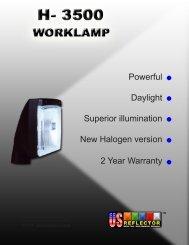 Powerful Daylight Superior illumination New Halogen ... - US Reflector