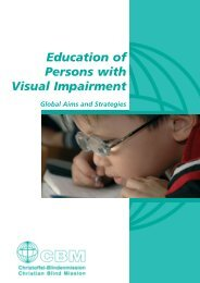 Education of Persons with Visual Impairment - Christoffel ...