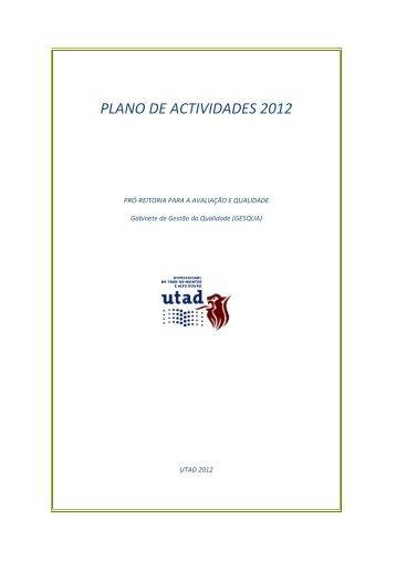 Plano de Atividades 2012 - Utad