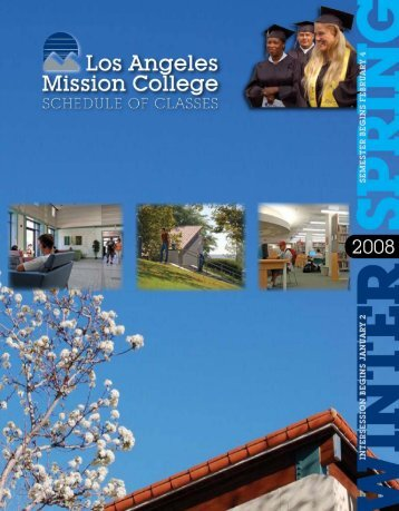 Spring 2008 Schedule - Los Angeles Mission College