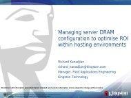Managing server DRAM configuration to optimise ROI within hosting ...
