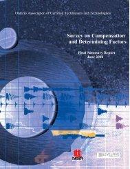 Survey on Compensation and Determining Factors - oacett