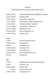 Termine 2013 Katholischen Kirchengemeinde St. Johannes ...