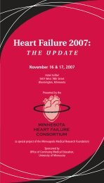 Heart Failure 2007 - University of Minnesota Continuing Medical ...