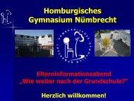 Download Präsentation - Homburgisches Gymnasium Nümbrecht