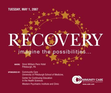 recovery - Community Care Behavioral Health