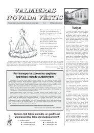 VALMIERAS NOVADA VĒSTIS (Decembris) Nr. 4 - Kocēnu novads