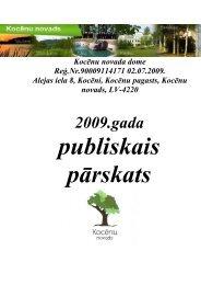Kocēnu novada domes 2009. gada publiskais pārskats