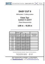 D Deckblatt Easy Cut II Claas Lexion - Gebr. Schumacher