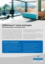 GEWE-therm® 3-fach Isolierglas