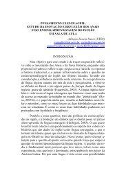 PENSAMENTO E LINGUAGEM: ESTUDO DA INOVAÇÃO E ...