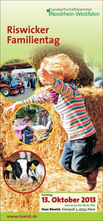 Riswicker Familientag - Landwirtschaftskammer Nordrhein-Westfalen