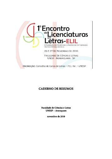 Elil 2010 - Faculdade de Ciências e Letras - Unesp