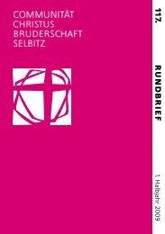 EINLADUNG - Communität Christusbruderschaft Selbitz