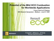 Potential of the Mild HCCI Combustion for Worldwide Applications