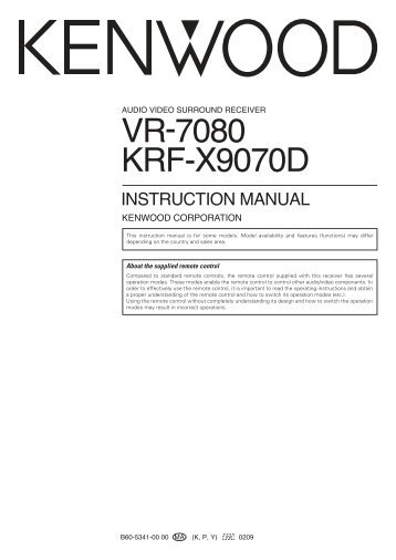 service sometimes called repair is used mainly by technicians  kenwood vr  6070 user manual manualmachine  service manual kenwood vr 7070 receiver  manualzz