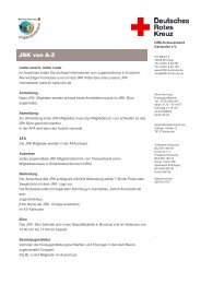 Infos von A bis Z - JRK Karlsruhe